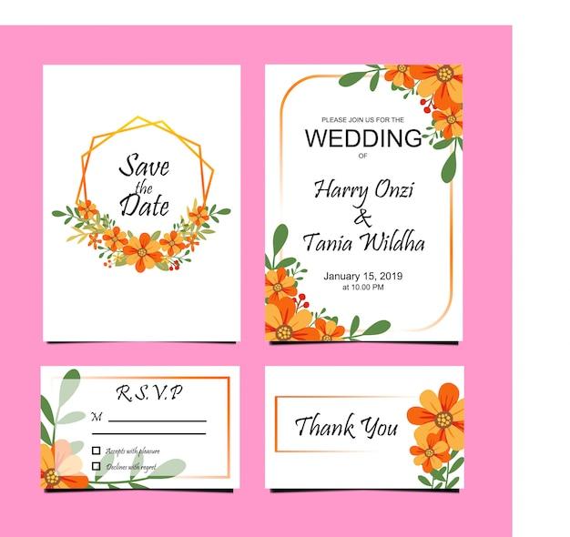 Modèles d'invitation de mariage, cartes de rsvp.