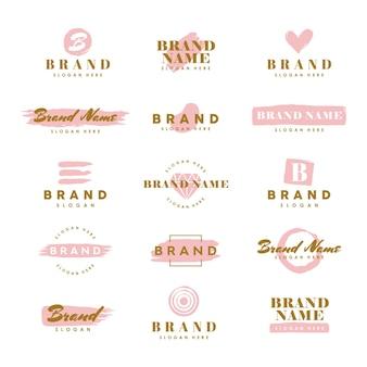 Modèles de logo de beauté minimal pour la conception de la marque