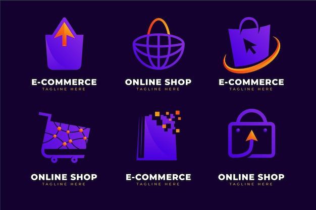 Modèles De Logo De Boutique En Ligne Créatifs Vecteur Premium