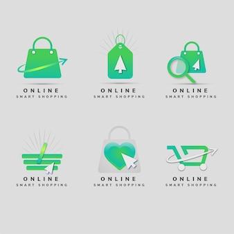 Modèles de logo de boutique en ligne créatifs