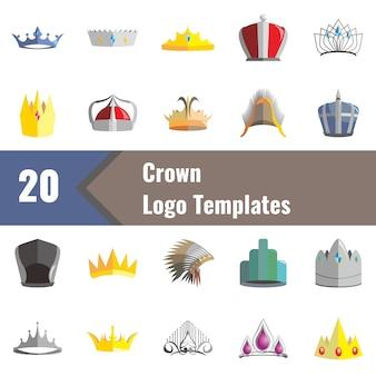 Modèles de logo de la couronne