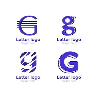 Modèles de logo créatif lettre g