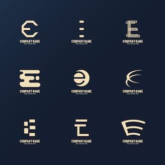 Modèles de logo e design plat