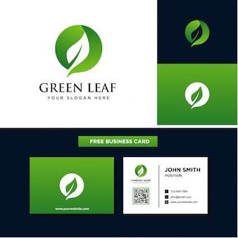 Modèles de logo feuille verte