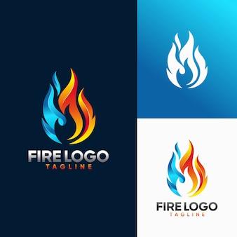 Modèles de logo incendie