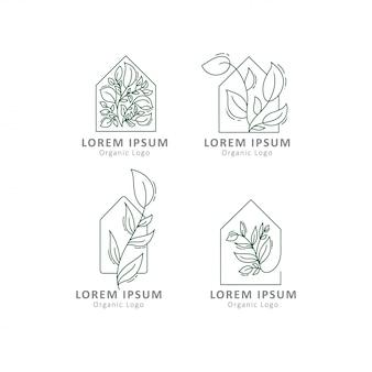 Modèles de logo de maison verte