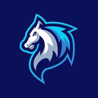 Modèles de logo de mascotte de cheval