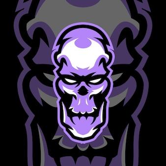 Modèles de logo de mascotte de crâne