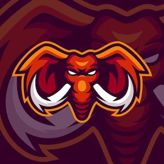 Modèles de logo de mascotte d'éléphant