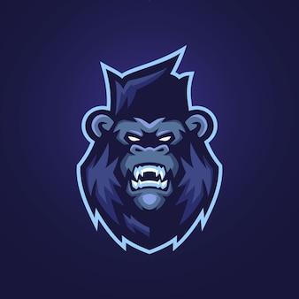 Modèles de logo de mascotte de gorille