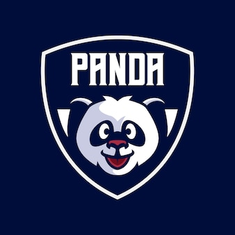 Modèles de logo de mascotte panda