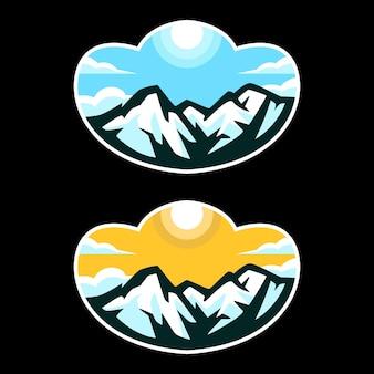 Modèles de logo de montagne
