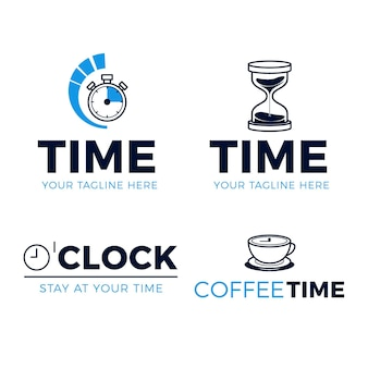 Modèles de logo de montre créative