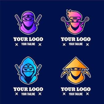 Modèles de logo ninja dégradé