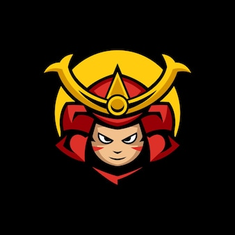 Modèles de logo de sport samouraï