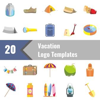 Modèles de logo de vacances