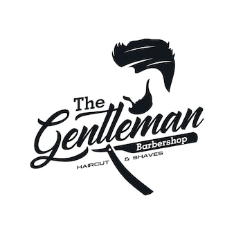 Modèles de logo vintage barbershop