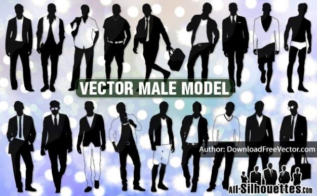 Modèles masculins vecteur tous les silhouettes