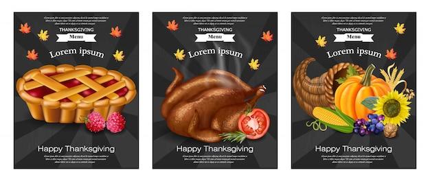 Modèles de menu happy thanksgiving