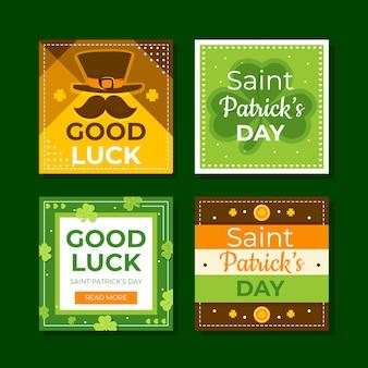 Modèles de messages instagram de la saint-patrick