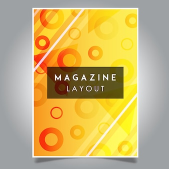 Modèles de modèle de mise en page de magazine abstrait vector