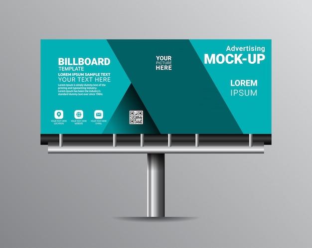 Modèles de modèles de panneau d'affichage pour la publicité extérieure.