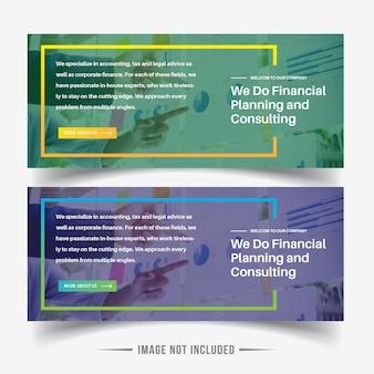 Modèles modernes de bannière Web
