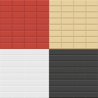 Modèles de mur de brique.
