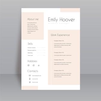 Modèles de page d'application minimalistes
