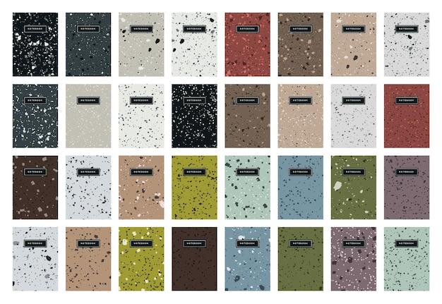 Modèles de page de couverture abstraite terrazzo