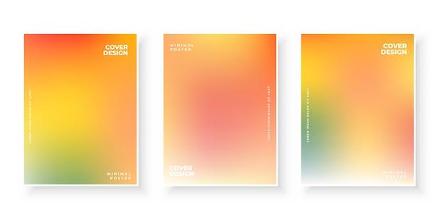 Modèles de page de couverture en dégradé de couleurs chaudes