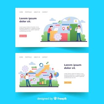 Modèles de pages de destination de concept commercial