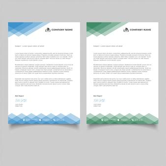 Modèles de papier à en-tête de géométrie minimale