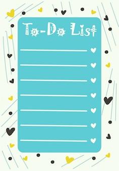 Modèles de planificateur, organisateur et calendrier avec des notes et des listes de tâches.