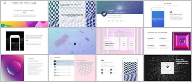 Modèles de portfolio avec diapositives abstraites