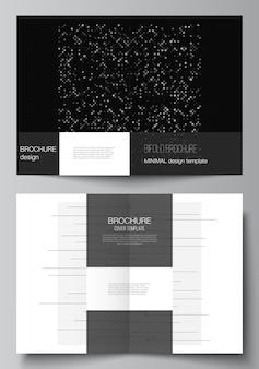 Modèles pour la conception de la couverture du dépliant de brochure à deux volets