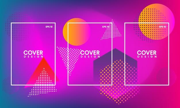 Modèles pour couvertures abstraites, dépliants, bannières et affiches
