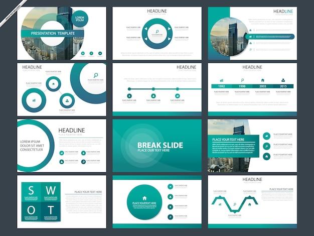 Modèles de présentation abstraits verts