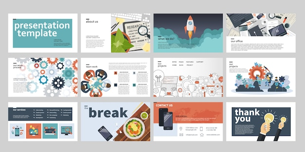 Modèles de présentation d'affaires
