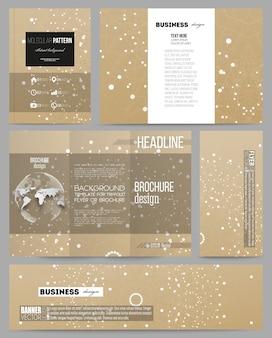 Modèles de présentation, brochure, dépliant, livret