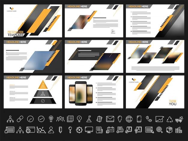 Des modèles de présentation créative pour vos rapports métier et votre présentation. peut être utilisé comme brochure, dépliant, conception de couverture.