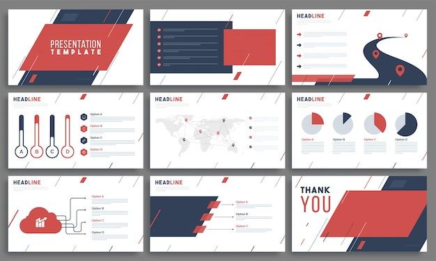 Modèles de présentation avec élément infographique.