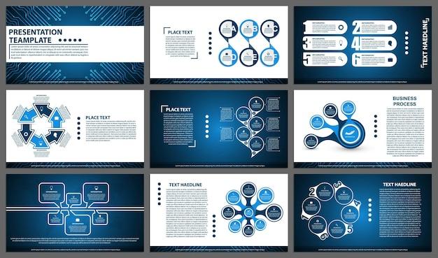 Modèles de présentation d'entreprise éléments modernes d'infographie