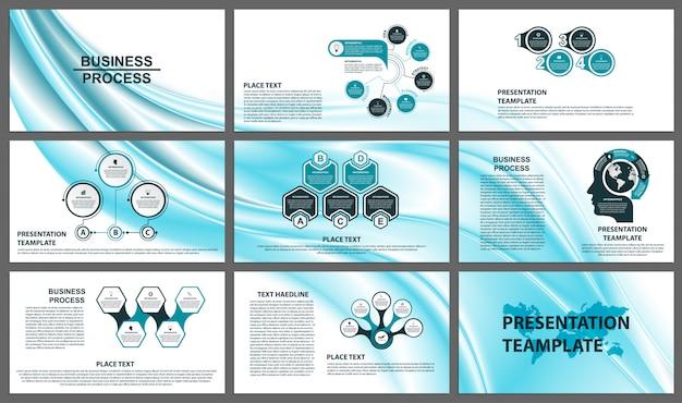Modèles de présentation d'entreprise.