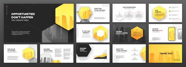 Modèles de présentation modernes définis pour les entreprises