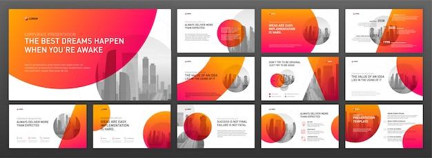 Modèles de présentation powerpoint de présentation d'affaires