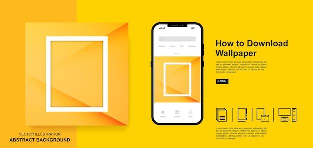 Modèles de publication de médias sociaux couleur jaune abstrait moderne