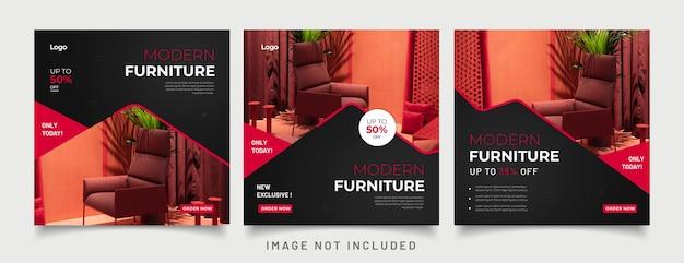Modèles de publication de meubles sur les réseaux sociaux