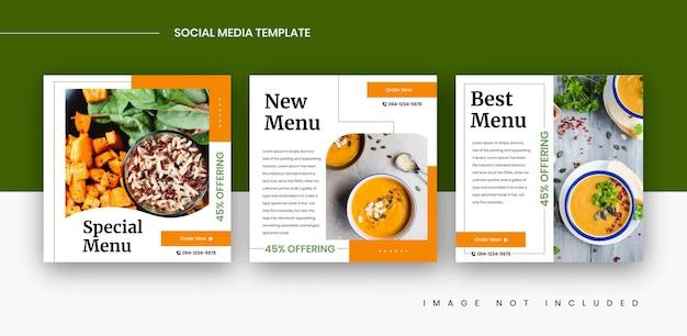 Modèles de publication sur les réseaux sociaux alimentaires