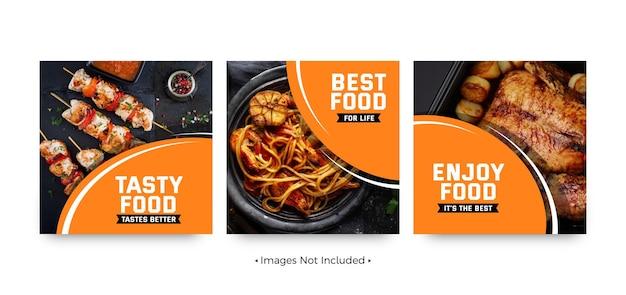 Modèles de publication sur les réseaux sociaux de bannière alimentaire